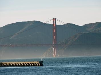 View of Golden Gate bridge from Pier 39